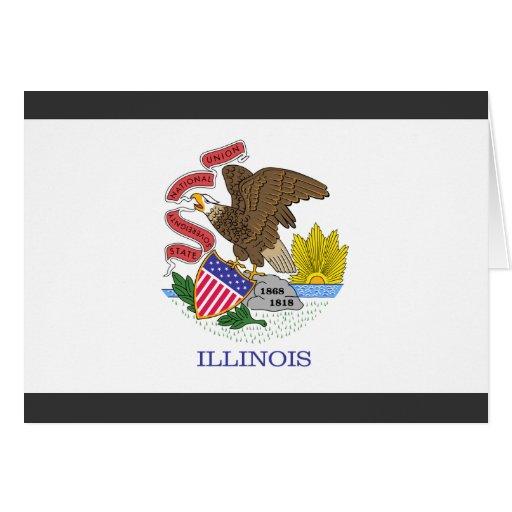 Bandera de Illinois Tarjeta