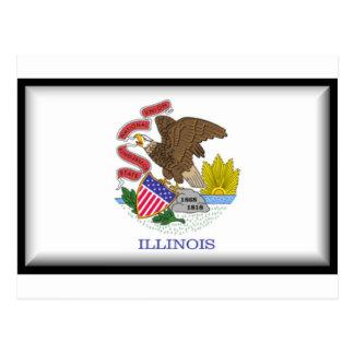 Bandera de Illinois Postales