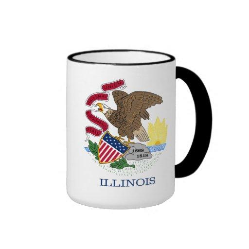 Bandera de Illinois Taza De Dos Colores