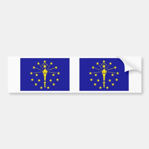 Bandera de Indiana Etiqueta De Parachoque