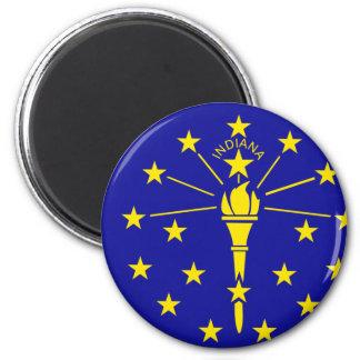 Bandera de Indiana Imán Redondo 5 Cm