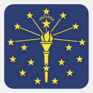 Bandera de Indiana Pegatina Cuadrada