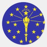 Bandera de Indiana Pegatina Redonda
