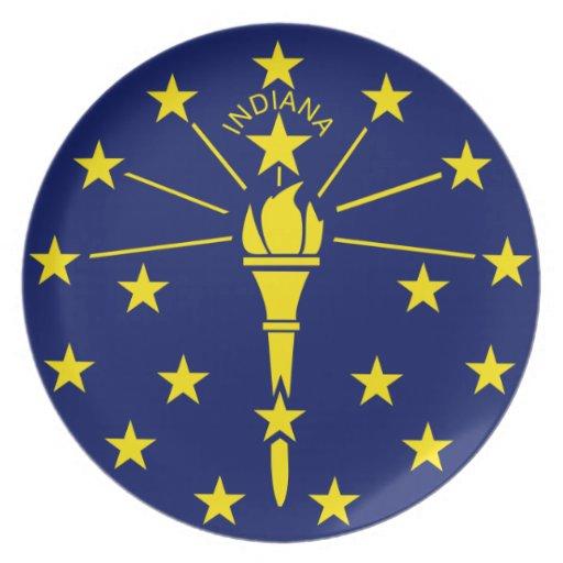 Bandera de Indiana Plato De Cena