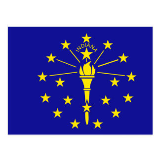 Bandera de Indiana Postales