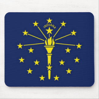 Bandera de Indiana Tapete De Ratón
