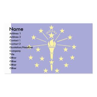 Bandera de Indiana Tarjeta De Visita