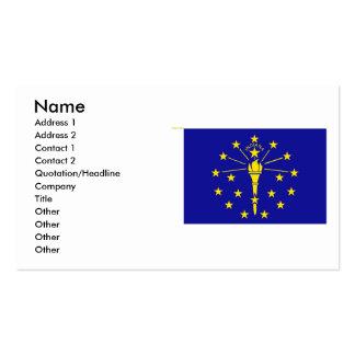 Bandera de Indiana Tarjetas De Visita