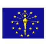 Bandera de Indiana Tarjeta Postal