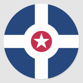 Bandera de Indianapolis Pegatina Redonda