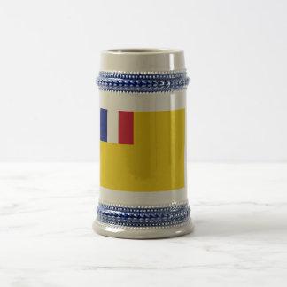 Bandera de indochina francés (1887-1954) jarra de cerveza