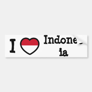 Bandera de Indonesia Pegatina De Parachoque