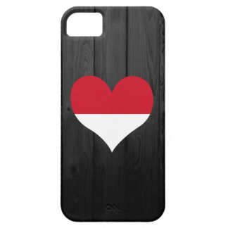 Bandera de Indonesia coloreada Funda Para iPhone 5 Barely There