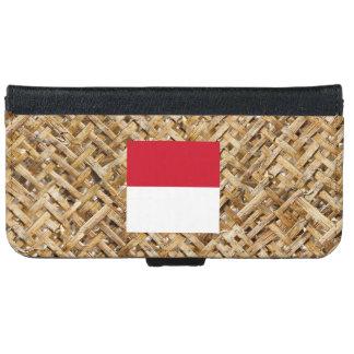 Bandera de Indonesia en la materia textil temática Carcasa De iPhone 6