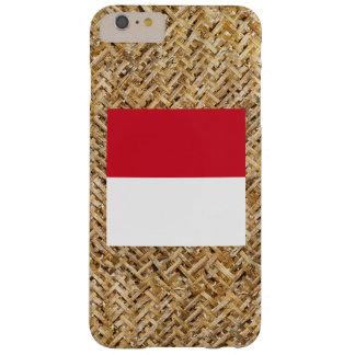 Bandera de Indonesia en la materia textil temática Funda Para iPhone 6 Plus Barely There