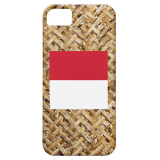Bandera de Indonesia en la materia textil temática iPhone 5 Carcasa