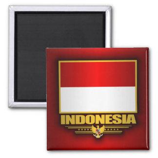 Bandera de Indonesia Imán Cuadrado
