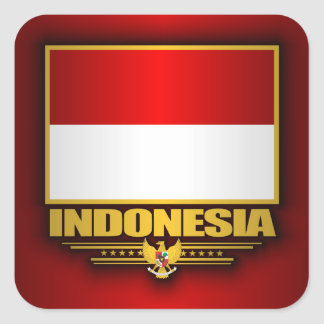 Bandera de Indonesia Pegatinas Cuadradas Personalizadas
