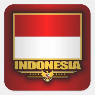 Bandera de Indonesia Pegatina Cuadrada