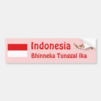 Bandera de Indonesia + Pegatina para el parachoque Etiqueta De Parachoque