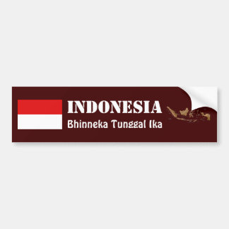 Bandera de Indonesia + Pegatina para el Pegatina Para Auto