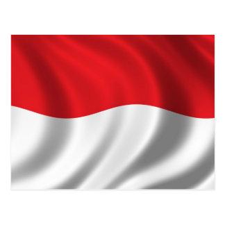 Bandera de Indonesia Postales