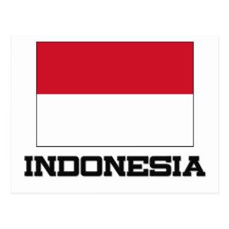 Bandera de Indonesia Tarjetas Postales