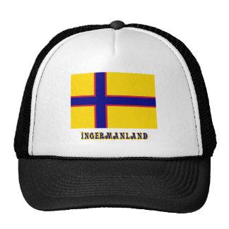 Bandera de Ingermanland con nombre Gorros Bordados