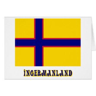 Bandera de Ingermanland con nombre Tarjeton