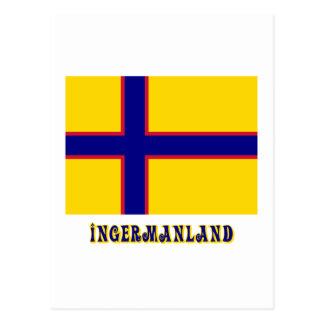 Bandera de Ingermanland con nombre Tarjetas Postales