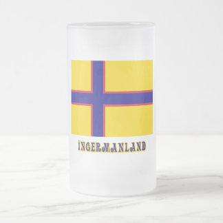 Bandera de Ingermanland con nombre Tazas
