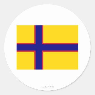 Bandera de Ingermanland Etiqueta Redonda