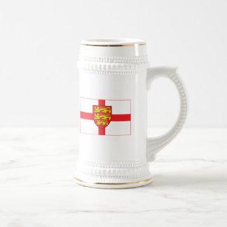 Bandera de Inglaterra con la taza del escudo de