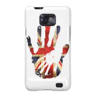Bandera de Inglaterra del Union Jack de la mano