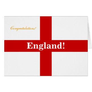 ¡Bandera de Inglaterra - Engerland! ¡Engerland! Tarjeta De Felicitación