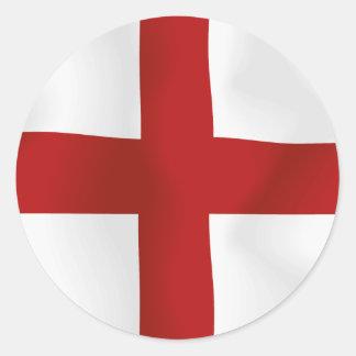 Bandera de Inglaterra Etiquetas Redondas