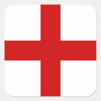 Bandera de Inglaterra Calcomanía Cuadradas