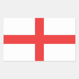 Bandera de Inglaterra Pegatina Rectangular