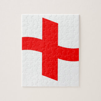 Bandera de Inglaterra que agita Rompecabeza Con Fotos