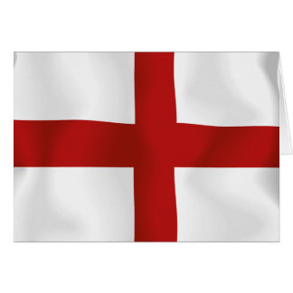 Bandera de Inglaterra Tarjetón