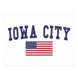 Bandera de Iowa City los E.E.U.U. Postal