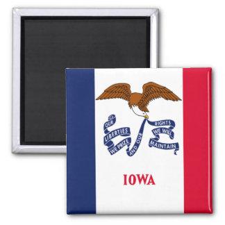 Bandera de Iowa Imán Cuadrado
