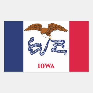 Bandera de Iowa Pegatina Rectangular