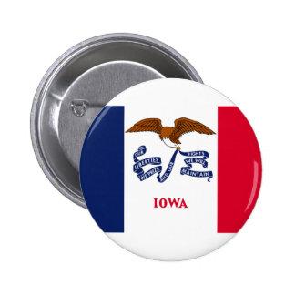 Bandera de Iowa Pin Redondo 5 Cm