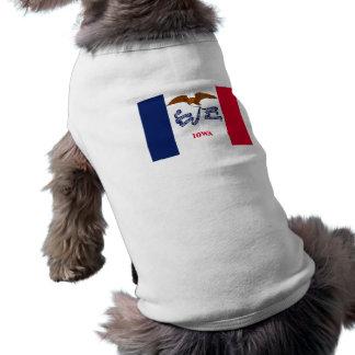 Bandera de Iowa Playera Sin Mangas Para Perro