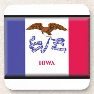 Bandera de Iowa Posavasos De Bebida