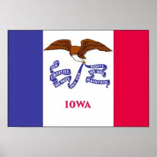 Bandera de Iowa Póster