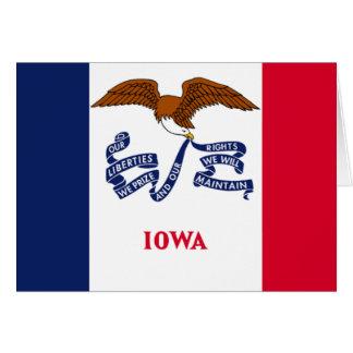 Bandera de Iowa Tarjeta De Felicitación