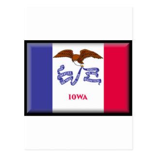 Bandera de Iowa Tarjetas Postales