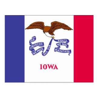 Bandera de Iowa Tarjeta Postal